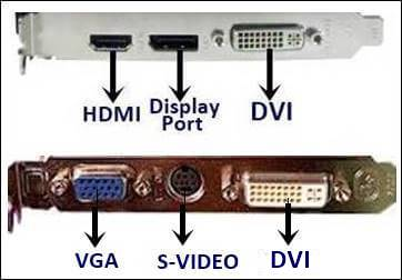 Connettori HDMI VGA DVI S-VIDEO DISPLAY PORT
