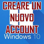 CREARE UN ACCOUNT WINDOWS 10
